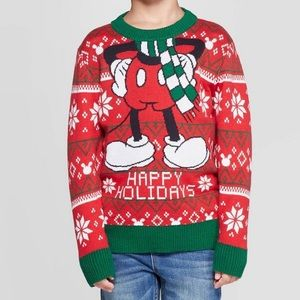 Disney Mickey Mouse Happy Holidays Sweater